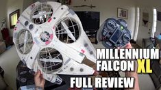 Star Wars MILLENNIUM FALCON XL Drone - Full Review - [Unbox, Inspection,...