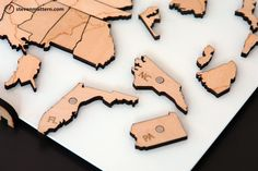 USA Rivers & Lakes Map Puzzle - Birch Plywood. $102,00