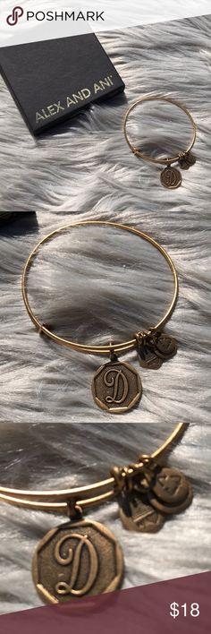 Bangle Bracelet With Letter D