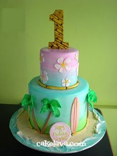 beach party cake- stole from rach, LOVE THIS!