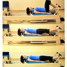 Beginner Pilates Reformer Workout: The Reformer Footwork Continued - Heels Lower and Lift