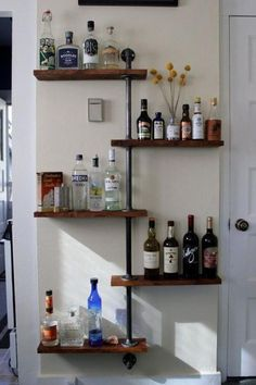 8 Top Tips and Tricks: Floating Shelves Vanity Products floating shelf design toilets.Floating Shelf Design Toilets floating shelves under tv. Industrial Home Design, Industrial Pipe Shelves, Industrial House, Pipe Shelving, Diy Pipe Shelves, Industrial Style, Industrial Closet, Industrial Restaurant, Industrial Lamps