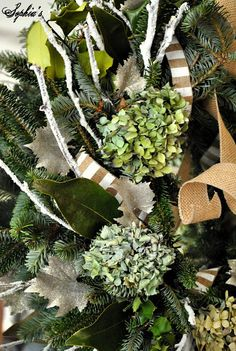 Sophia's: Simple Garden-Inspired Christmas Mantel