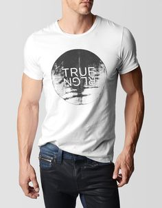 True Religion, MOON RISE TRUE RELIGION MENS T-SHIRT, 09 white, Mens : Tops : Tees & Knits, MS4A451JT51746