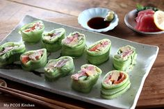 Never eat sushi made with rice again when you have delicious cucumber wrapped sushi!