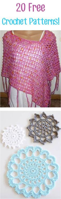 20 Free Crochet Patterns!! ༺✿ƬⱤღ https://www.pinterest.com/teretegui/✿༻