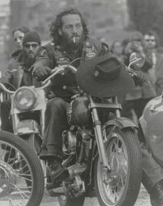 Sonny Barger in a surveillance photo taken by the feds.