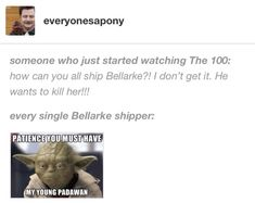 Yea its a love hate, and when I started watching the 100 I sorta shipped Flarke but nvm now.