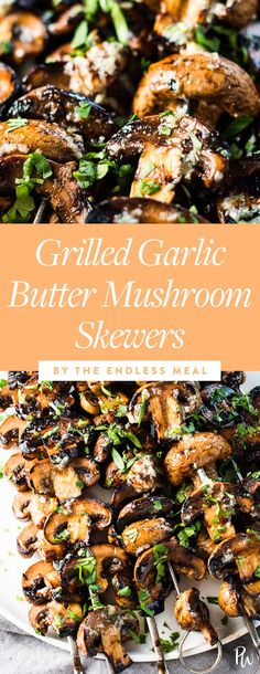 Grilled garlic butter mushrooms. 31 Grilling Recipes That Are on the Whole30 Diet #purewow #recipe #lunch #food #whole30 #dinner #grillingrecipes #summerrecipes #summerdinners #grillrecipes #whole30recipes #whole30diet #whole30meals #whole30dinners #healthydinners #grilledmushrooms #mushroomrecipes #skewers