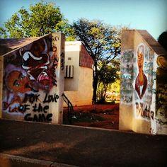 Graffiti in the small Kalahari town Deben