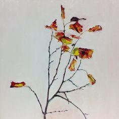 hermelando b m: In the Sun leaves. Oil on board. 50 x 50 cm.