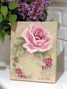 Original rose painting by JoAnne Coletti