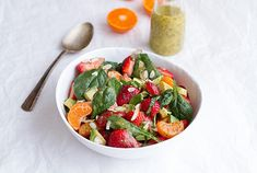 Strawberry, Spinach, and Avocado Fruit Salad | Community Post: 28 Delectable Recipes That Are Perfect For A Springtime Brunch
