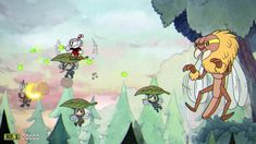 Cuphead - Treetop Trouble \ Run & Gun Treetop Trouble is a level in Inkwell Isle One that has the player going up and through a tree. It is the second platforming level in the game and is arguably more complex than Forest Follies the other platforming level in this world. Pink and orange ladybugs that either bounce or roll across the slanted path. Sometimes they come in groups. The pink ladybugs can be parried. There are 3 sections in this platforming level: 1: Player/s must go up a slope…