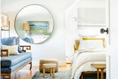 10 Ways to Make a Big Bedroom Feel Cozy | Apartment Therapy Big Bedrooms, Coastal Bedrooms, Luxurious Bedrooms, Cozy Apartment, Apartment Therapy, Berlin Apartment, Studio Apartment, Apartment Living, Nooks