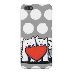 Samoyed Heartfelt Duo iPhone 5 Cases