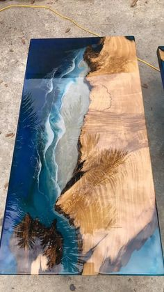 Coffee table / dining table / Epoxy table river table ocean table handmade beautiful table / dining table – Самодельные столики – New Epoxy Epoxy Table Top, Epoxy Wood Table, Epoxy Resin Table, Diy Epoxy, Bancada Epoxy, Resin Crafts, Resin Art, Diy Crafts, Coffee Table To Dining Table