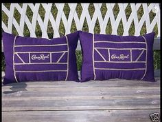 THIS IS THE GIFT FOR THE CROWN ROYAL LOVER. 2 CROWN ROYAL PILLOWS. Size 17 X 11. MADE FROM PURPLE CROWN ROYAL BAGS. THE PILLOWS ARE MADE FROM THE BAGS. FILLED WITH PREMIUM POLYESTER FIBERFILL. | eBay!