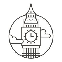 City Icons for Offscreen Magazine by Adam Whitcroft – Doodles Easy Doodles Drawings, Easy Doodle Art, Cute Easy Drawings, Mini Drawings, Small Drawings, Pencil Art Drawings, Cool Art Drawings, Kawaii Drawings, Art Drawings Sketches