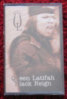 #QueenLatifah – Black Reign Tape Cassette #HipHop #FlavorUnit #ebay