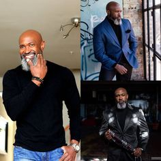 Gentleman Style 419116309072097323 - A man always expresses his own style, but doing it with class and carrying it out with dignity, makes him a gentleman. YOU ONLY LIVE ONCE,… Source by Black Men Beards, Handsome Black Men, Afro, Gorgeous Black Men, Beautiful, Look Man, Hommes Sexy, Raining Men, Mature Men