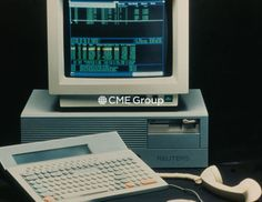 Historical photo- First Globex Electronic Trading Terminal.