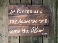 Items similar to As for me and my house, serve the Lord wood sign Scripture art Christian wall decor 15 x 20 Reclaimed wood Christian wall art Inspirational on Etsy Christian Wall Decor, Christian Artwork, Christian Crafts, Diy Arts And Crafts, Crafts To Do, Wood Crafts, Mobiles, Scripture Art, Bible Verses