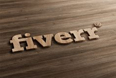 I will do 3d LOGO mockup design wood style for $5