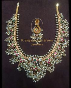 Gorgeous gutta pusalu necklace for Telugu wedding