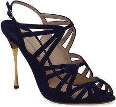 Nicholas Kirkwood Blue Gilded Stiletto Sandal