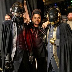 Softer, Worse(r), Slower, Weaker — daft-punkfans: Daft Punk & The Weeknd,. Pink Floyd, Daft Punk Unmasked, Daft Punk Poster, The Weeknd Poster, Starboy The Weeknd, Grammys 2017, Looks Hippie, Abel The Weeknd, Abel Makkonen