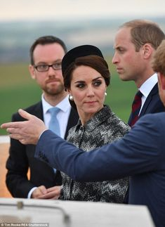 TheDuchess of Cambrige looked solmen as she attended a poignant vigil at the Somme battlefield