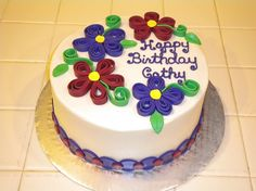 Quilling plus cake decorating...blows my mind!
