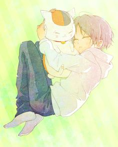 Natsume et nyanko sensei Kawaii Chibi, Cute Chibi, Manga Anime, Anime Art, Natsume Takashi, Cool Anime Pictures, Hotarubi No Mori, Natsume Yuujinchou, Manga Love