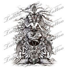 Marketplace Tattoo Throne of Baphomet #9473 | CreateMyTattoo.com