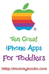 iphone apps for your toddler!!! I needed this when we were out to dinner the other night. I could not find an app for my son to play with!