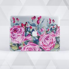flowers macbook pro case macbook air case 11 laptop case Macbook Pro Decal, Macbook Pro 13 Case, Macbook Air 13, Laptop Case, Learn Calligraphy, Decals, Tapestry, Apples, Creative