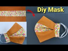 Easy Face Masks, Face Masks For Kids, Homemade Face Masks, Diy Face Mask, Sewing Hacks, Sewing Tutorials, Sewing Patterns, Homemade Cleaning Wipes, Fabric Crafts