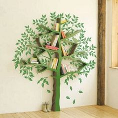 Online-Shop Designers fiberglass shelf I. - Designers fiberglass shelf IKEA Children's books minimalist style floor decorated tree bookshelf - Ikea Kids, Ikea Children, Tree Bookshelf, Tree Shelf, Bookshelf Design, Bookshelf Ideas, Tree Book Shelves, Creative Bookshelves, Corner Shelves