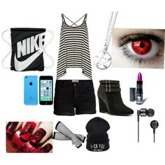 Park day by phebe-ozmore on Polyvore featuring polyvore, fashion, style, Dorothy Perkins, Pieces, Qupid, NIKE, Nixon and Manic Panic