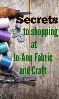 "Joann Fabric is one of my favorite craft stores! Be sure to check out these ""secrets"" to make your shopping even better there! Sewing Hacks, Sewing Tutorials, Sewing Patterns, Sewing Tips, Craft Tutorials, Fabric Crafts, Sewing Crafts, Sewing Projects, Diy Projects"