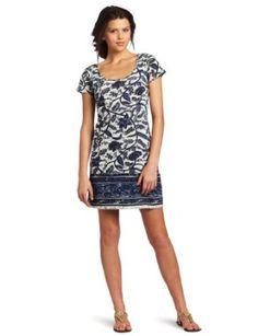 Lucky Brand Women's Chantel Border Print Dress