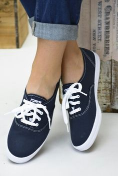 40868a9185 Shop Women s Keds Blue size 8 Sneakers at a discounted price at Poshmark.  Description  Lightly used Navy Keds Sneakers.