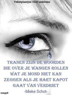Tranen zijn de woorden ...