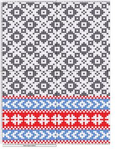 Estonian mittens pattern, etno Pattern repeat for 32 stitches Usable for…