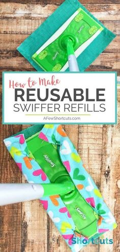 Sewing Projects Discover How to Make Reusable Swiffer Refills - A Few Shortcuts Dont spend money on those Swiffer refills. Learn how to make reusable Swiffer Refills that you can use over and over again. Easy Sewing Projects, Sewing Projects For Beginners, Sewing Tutorials, Sewing Hacks, Sewing Crafts, Sewing Tips, Simple Projects, Home Projects, Swiffer Refill