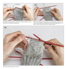 90939. LÄR DIG STICKA RAGGSOCKOR How To Purl Knit, Textiles, Fingerless Gloves, Baby Knitting, Baby Dress, Arm Warmers, Woodworking Plans, Ravelry, Drops Design