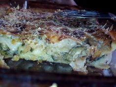 courgette, oignon, fromage de chèvre, lait, farine, beurre, fromage râpé, pâte à lasagne, poivre, Sel, herbes de Provence