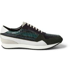 Wooyoungmi Snake and Suede Sneakers | MR PORTER