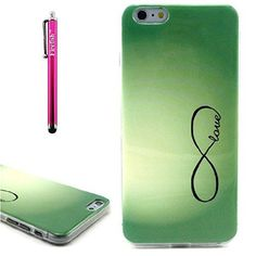 iPhone 6 Plus/6S Plus Case, Firefish Scratch-Proof Protective Cover Soft TPU Stylish Elegant Flexible Slim Back Skin Fit Case Cover for iPhone 6 Plus/iphone 6S Plus 5.5 inches - Green Eight, 2016 Amazon Hot New Releases Range Hoods  #Appliances